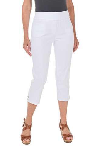 White Pull-On Ankle Pant