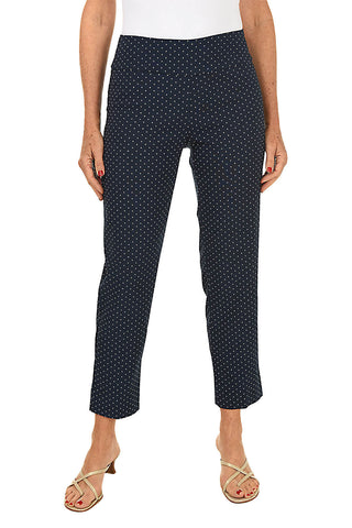 Checkered Pull-On Ankle Pant