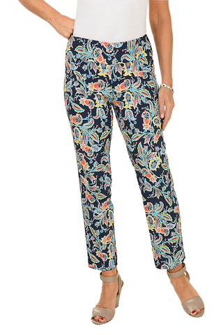 Damask Pull-On Capri Pant