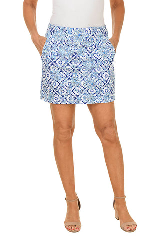 Pull-On Checkered Bermuda Short