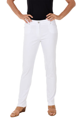 Pull-On Slim Leg Ankle Pant
