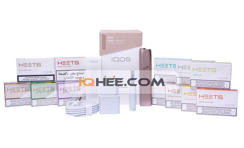 IQOS 3 Multi Gold Kit + 12 Small Packs of Heets Flavors