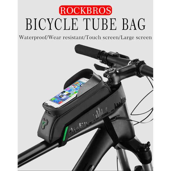 ROCKBROS Touch Screen Bicycle Front Tube Waterproof Bag