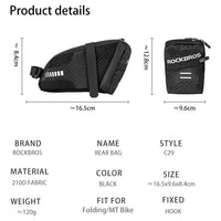 ROCKBROS Saddle Bag Large Capacity 1.5L