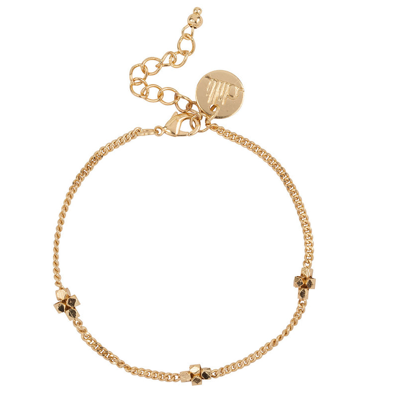 Sutra armband goud