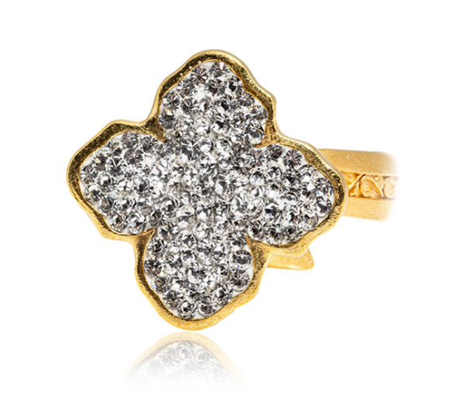 La Costa Flower Crystal Ring