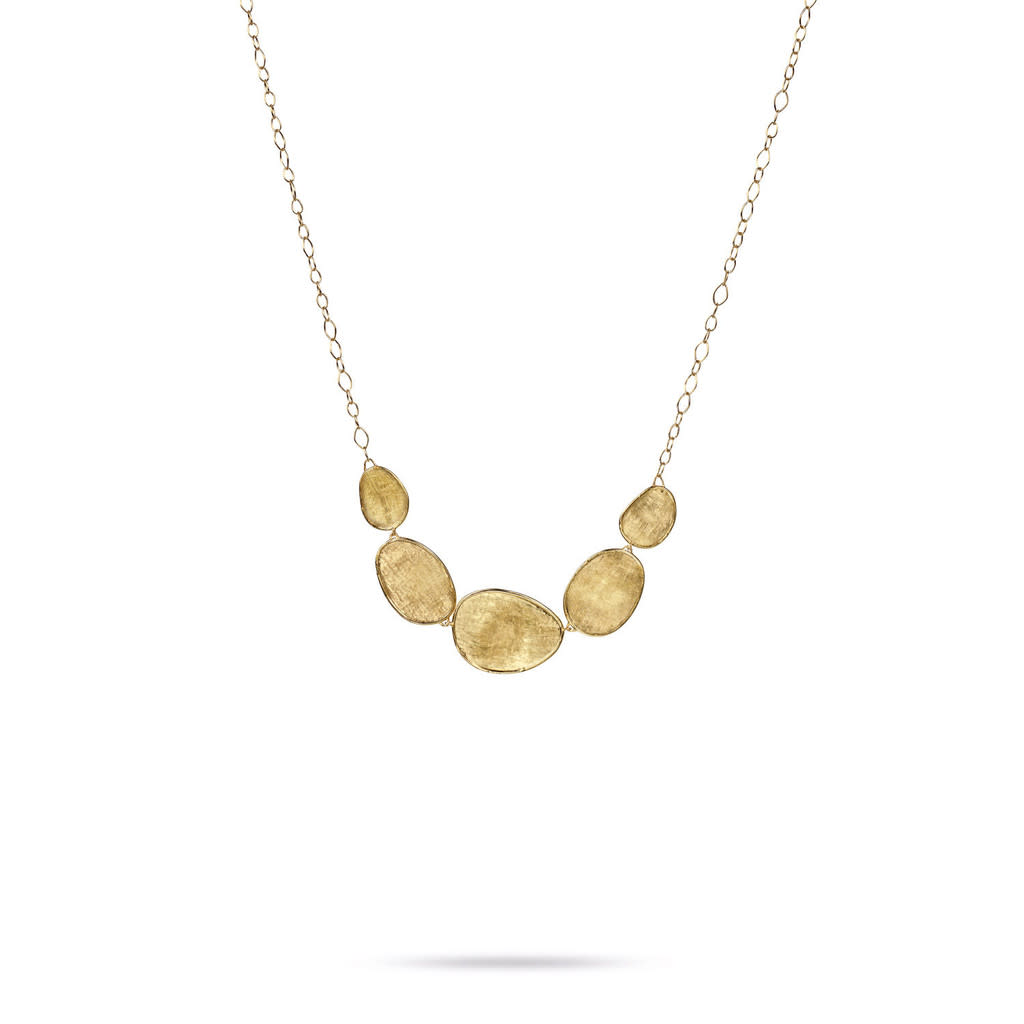 Marco Bicego 5 Station Hand Engraved Lunaria Necklace