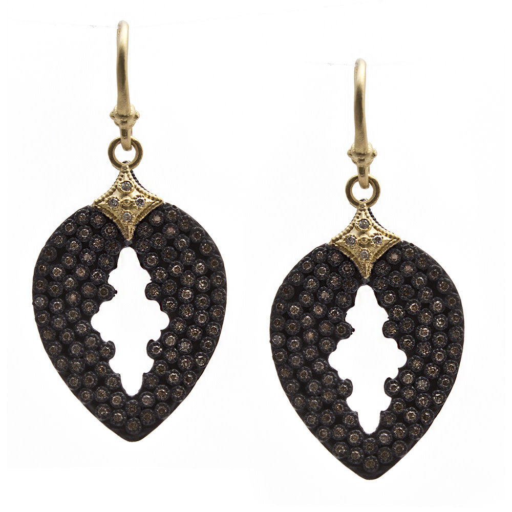 Armenta Old World Pave Pear Cut Drop Earrings