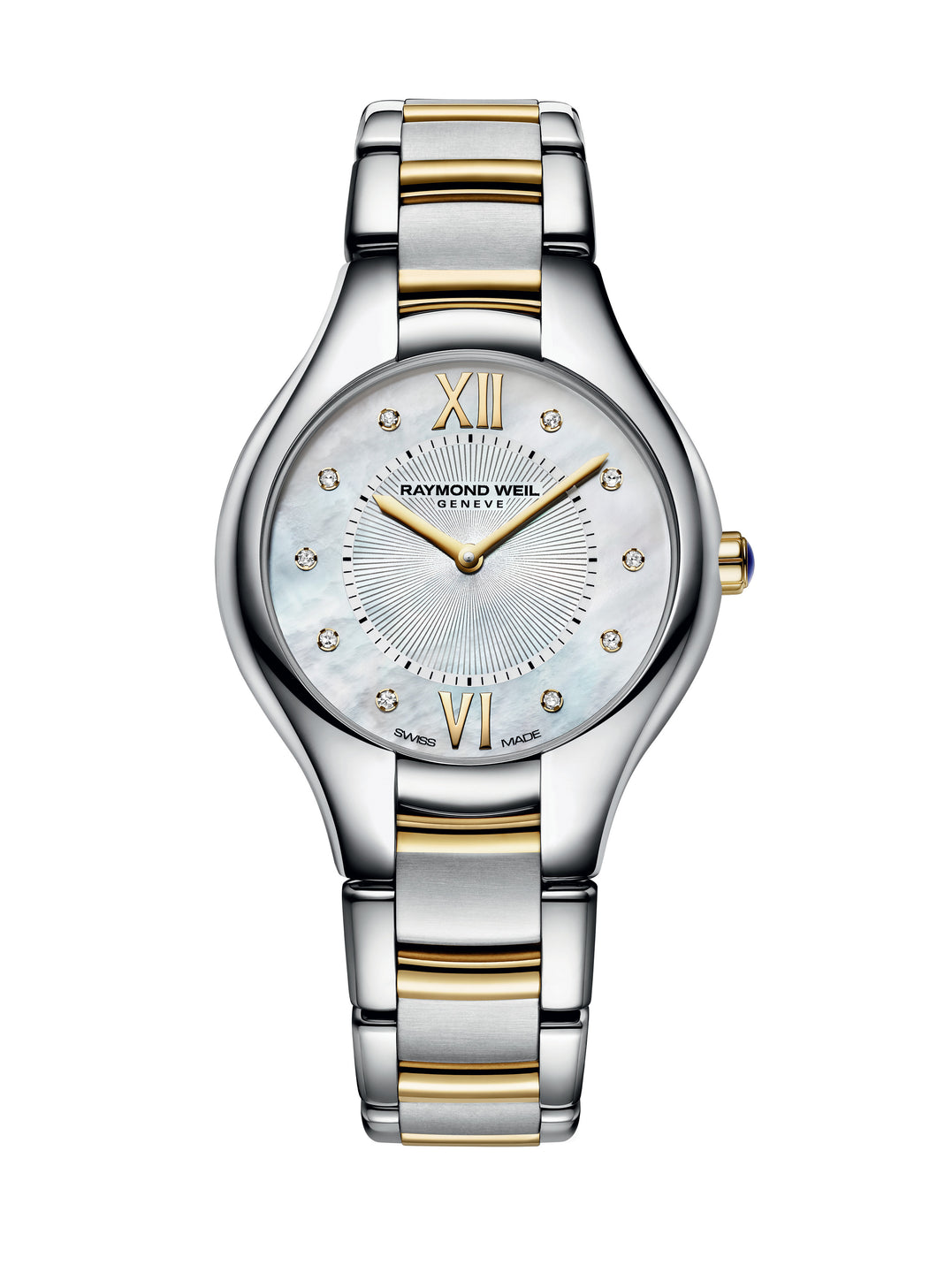 Raymond Weil Two Tone Noemia Diamond Mother Of Pearl Watch