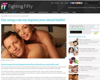 Can using a sex toy improve your sexual health ? - Fighting Fifty