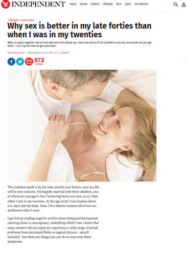 Enjoying better sex in my late 40's - The Independent