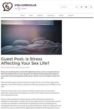 Is Stress affecting your Sex Life? -Xtracurricular