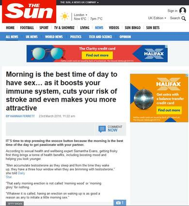 Morning is the Best Time to have sex - The Sun