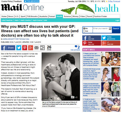 Talking to your doctor about sexual issues - Daily Mail