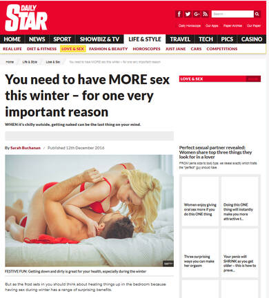 The Health Benefits of Winter Sex - Daily Star