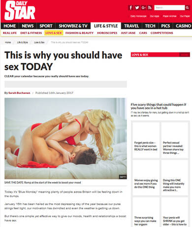 This Is Why You Should Have Sex On Monday - Daily Star