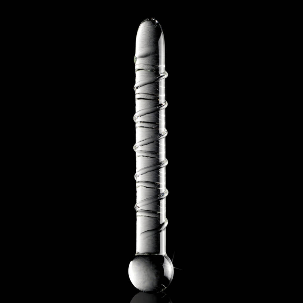 Icicles No 1 Clear Spiral Glass Dildo