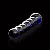 Icicles No 51 Beaded Blue Glass Dildo