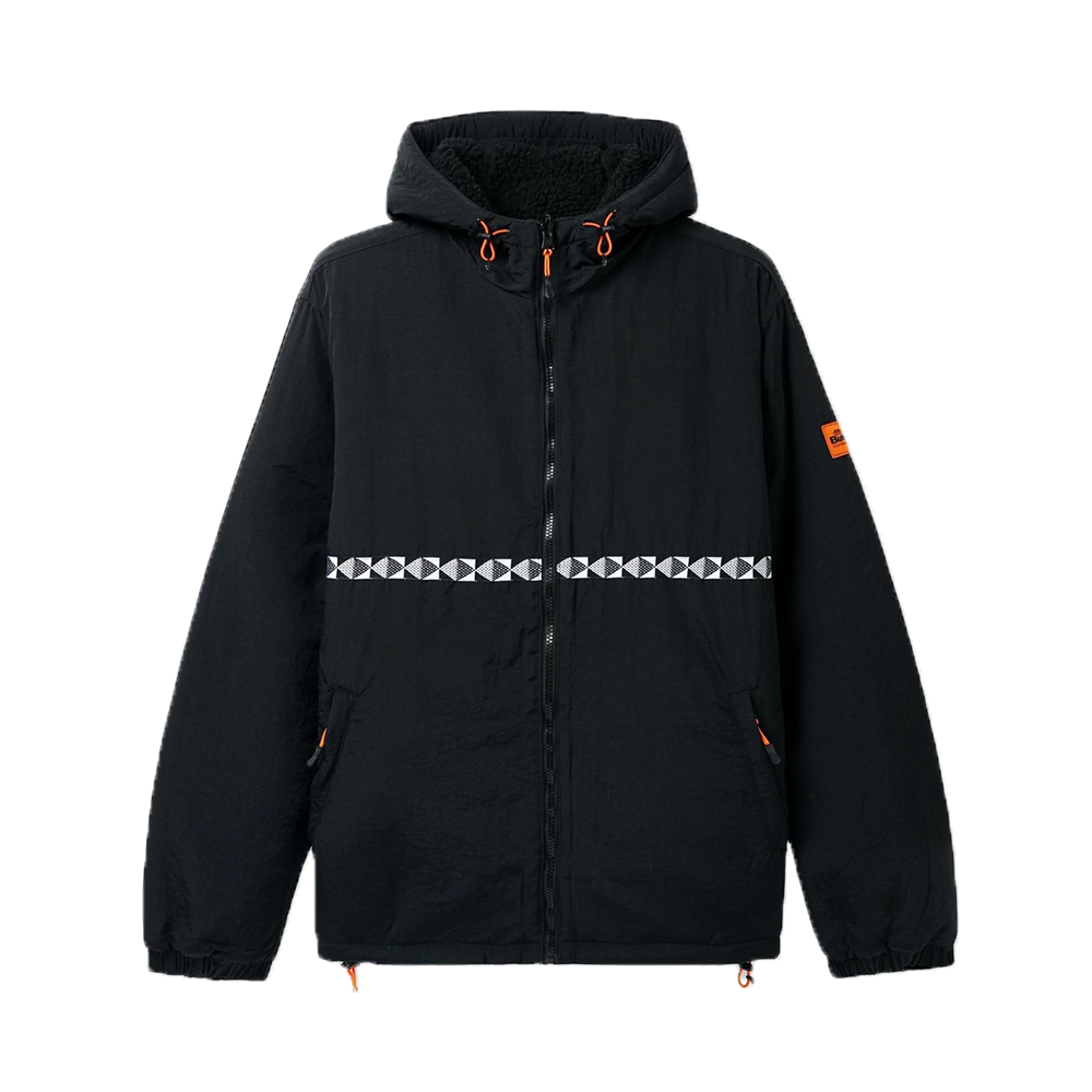 Butter Goods Base Camp Reversible Sherpa Jacket Black