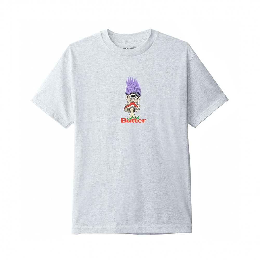Butter Goods Troll T-Shirt - Ash Grey