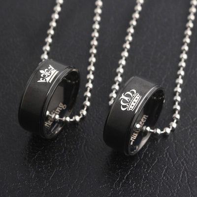 "COLLIER COUPLE ""KING & QUEEN"""