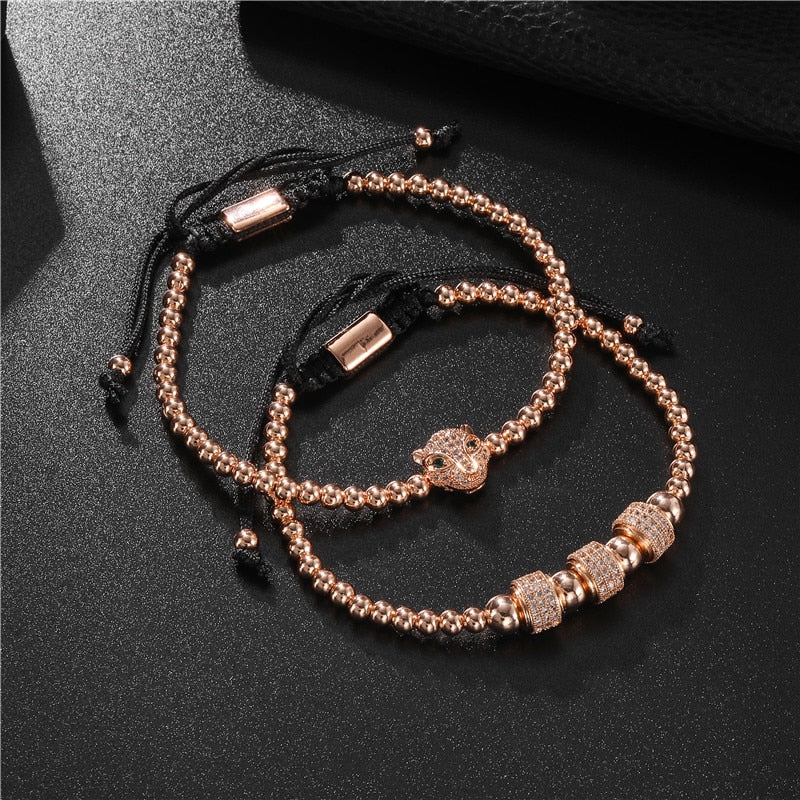 BRACELET COUPLE PERLE ROSE FELIN