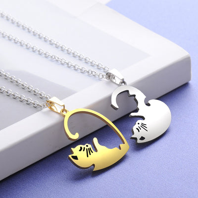 COLLIER COEUR SEPARABLE COUPLE CHAT