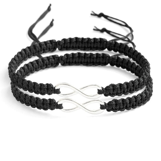 BRACELET COUPLE CORDON NOIR
