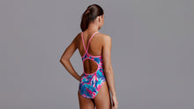 Load image into Gallery viewer, Girls Eco Diamond Back One Piece TropFest