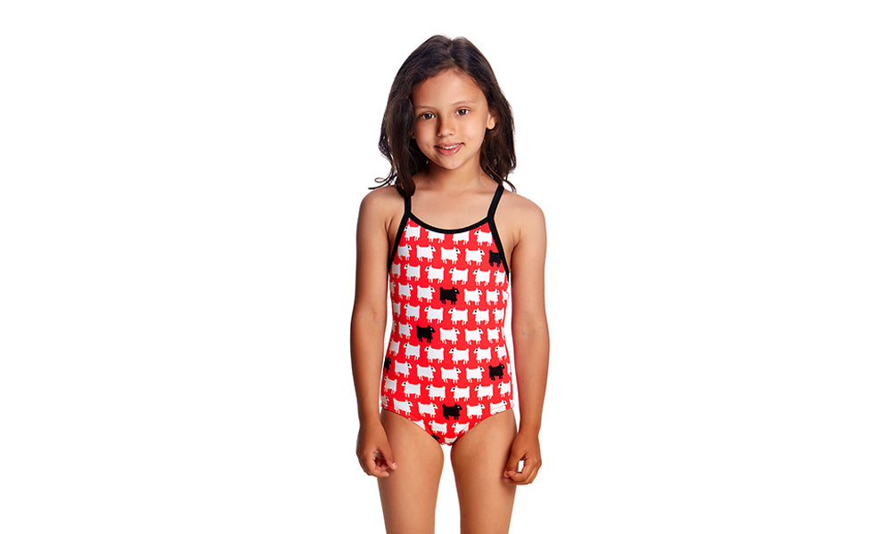 Toddler Girls Printed One Piece Black Sheep