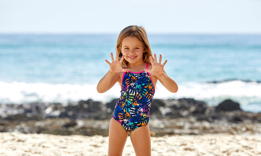 Toddler Girls Printed One Piece Hands Off