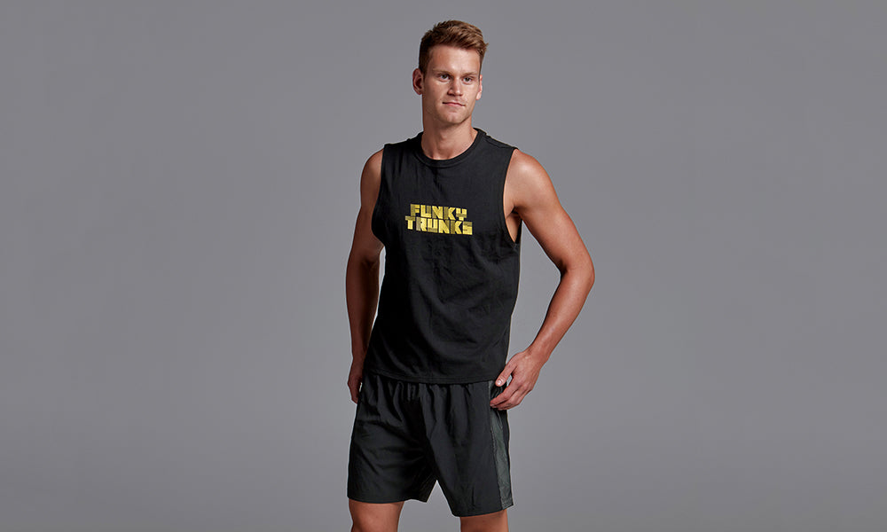 Mens Rapid Rep Tank Space Cadet Gold