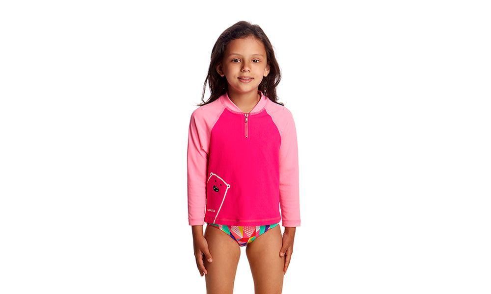 Toddler Girls Zippy Rash Vest Stare Bear