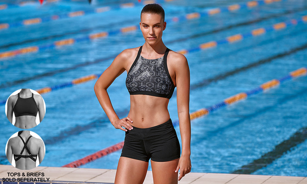 Womens Hi Light Swim Top Tomb Raider