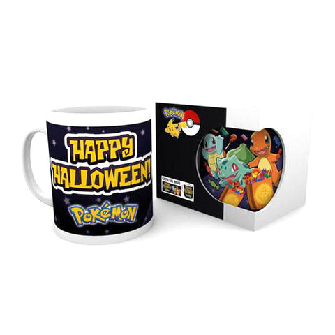 Pokemon - Happy Halloween Tasse/Becher - Shiggy, Bisasam, Glumanda Fan Artikel