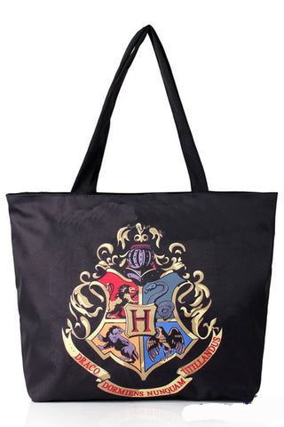 Shopping Bag adrette Mode Digitaldruck Harry Potter Hogwartswappen Schultertasche