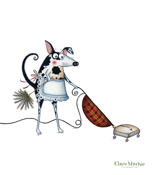 Hoovering Dog