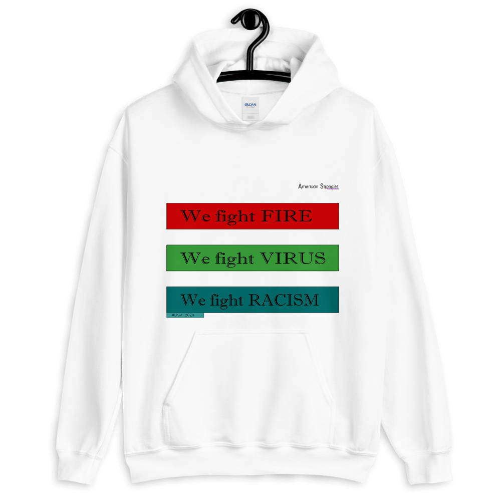 🚩 American Strong Hoodie (White - RGB)