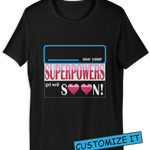 ⭐ Superpowers T-shirt Black (Customize it)