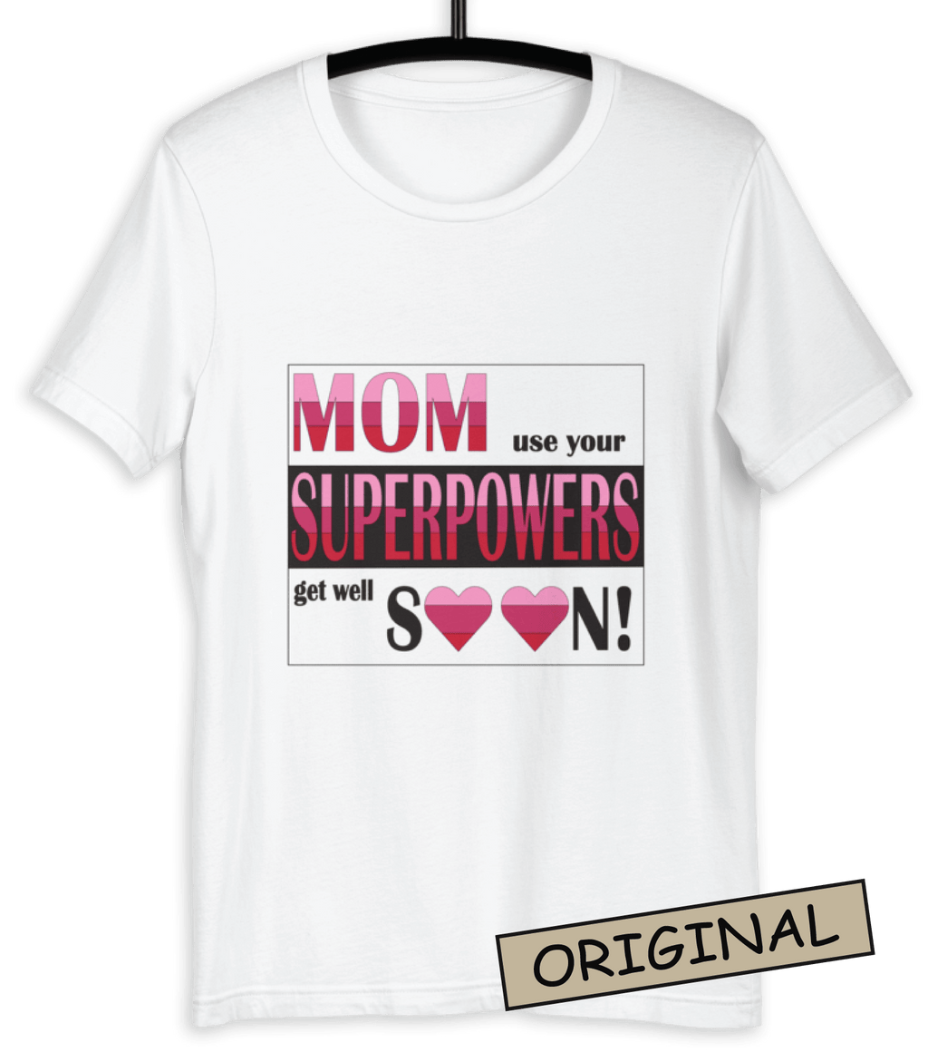 ⭐ Superpowers T-shirt White (Customize it)