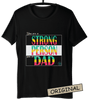 ⭐ Strong Person T-shirt Black (Customize it)