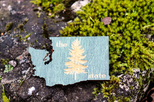 "Magnet - Wood ""Evergreen State"" design"