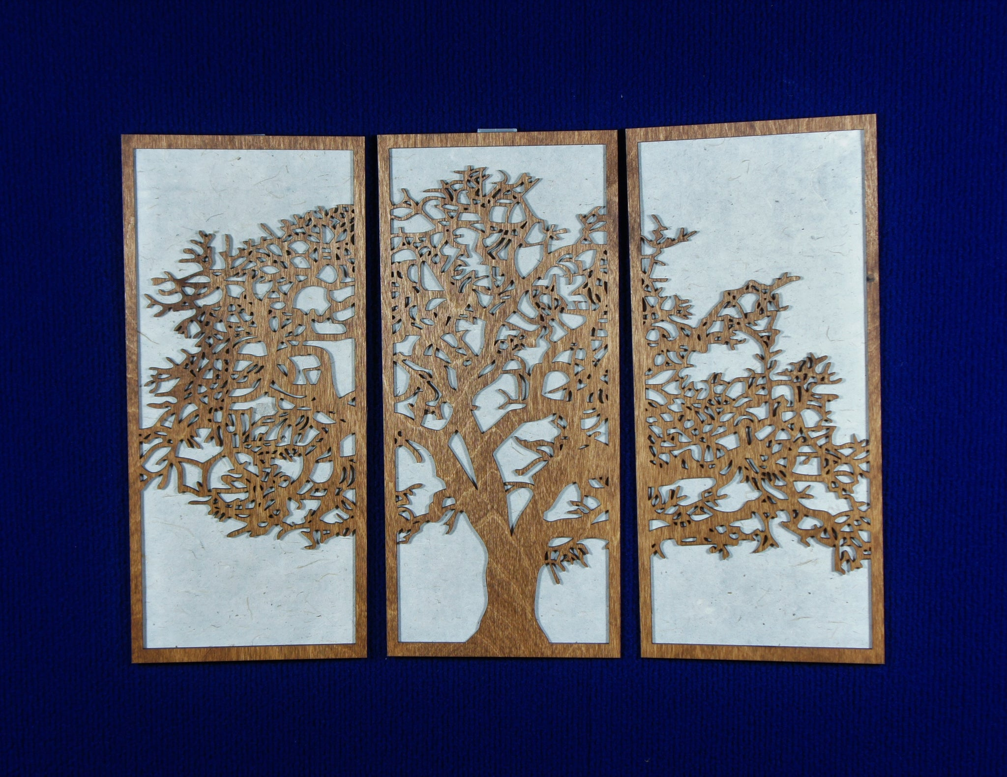 3 Panel Wood Wall Art - Tree design