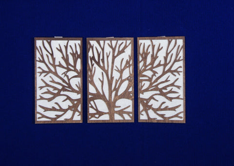 3 Panel Wood Wall Art - Moose Tree design