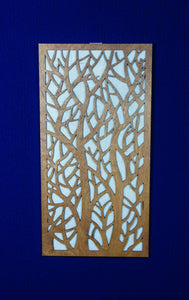 Wood Panel Art Wall - Single tree design with rice paper