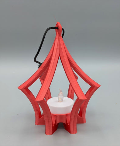 3D Printed Ornament - Red Lantern design