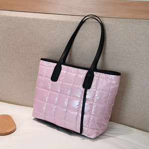 Fashion Space Cotton Designer Bright Color Top-Handle Tote