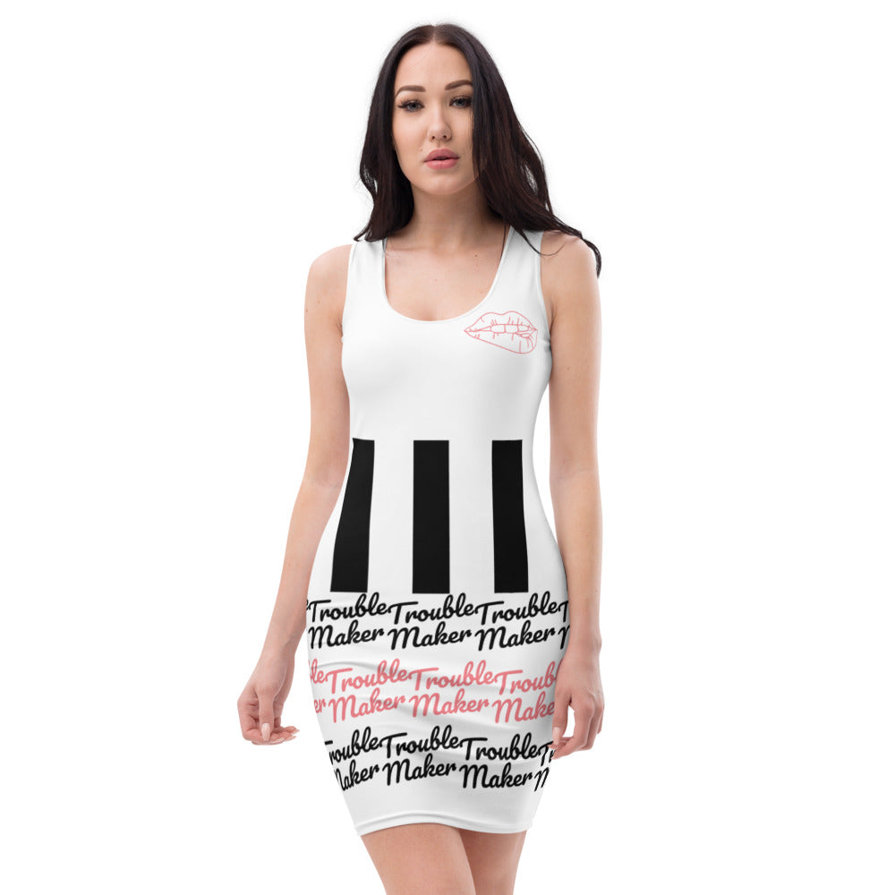Trouble Maker Sublimation Cut & Sew Dress
