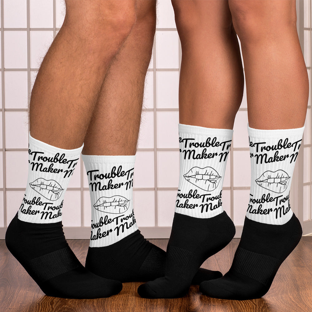 Trouble Maker Black Socks
