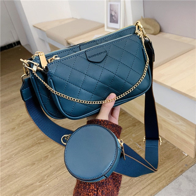 Double Flap Chain Crossbody Bags